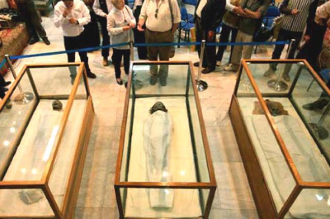 Exposición abierta al público en el que se muestra, entre otras, la momia de Maya, el tesorero de Tutankhamon