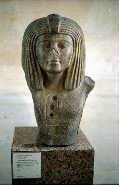 Busto de Osorkon I, uno de los sucesores de Sheshonq, descubierto en la ciudad de Biblos
