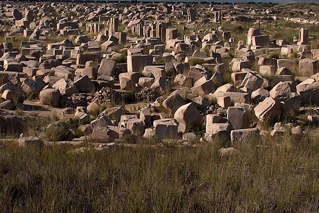 Imagen que muestra algunos de los restos de Bubastis, ciudad de donde era Sheshonq I