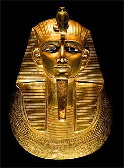 Imagen que muestra la máscara funeraria de Psusennes I