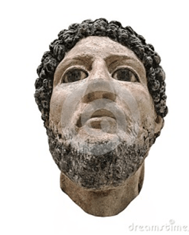 Excepcional busto egipcio de un hombre con barba