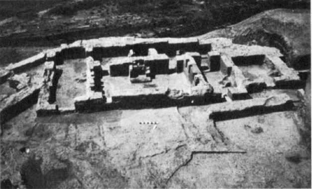 Fotografía antigua de parte del yacimiento de Godin Tepe