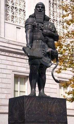 Estatua de Hammurabi de Babilonia en San Francisco, Estados Unidos
