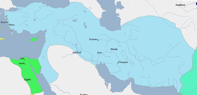 El inmenso imperio persa tras la anexión del imperio de Babilonia