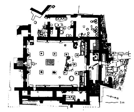 Plano ejemplo de un palacete del reino manneo