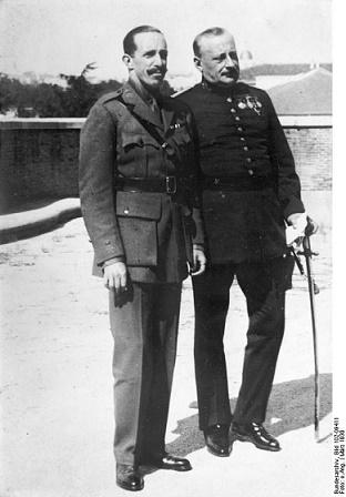 El dictador Miguel Primo de Rivera y el rey Alfonso XIII