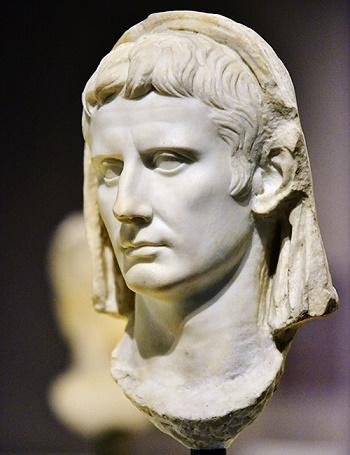Busto de Augusto, autor de la Res Gestae divi Augusto