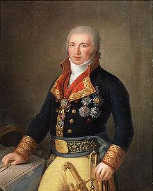 Manuel Godoy, principal político al servicio de Carlos IV