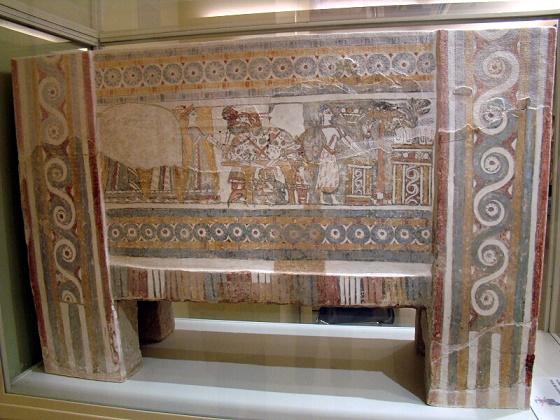 Otra de las caras del sarcófago de Haghia Triada