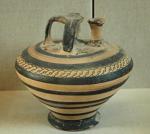 Jarrón micénico exportado a Ugarit