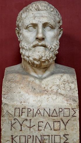 Busto de Periando, hijo y sucesor del tirano Cípselo de Corinto