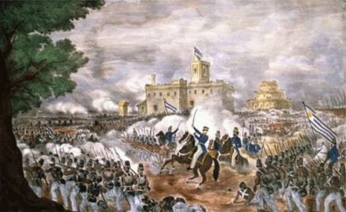 Cuadro representativo de la Batalla de Cepeda de 1820