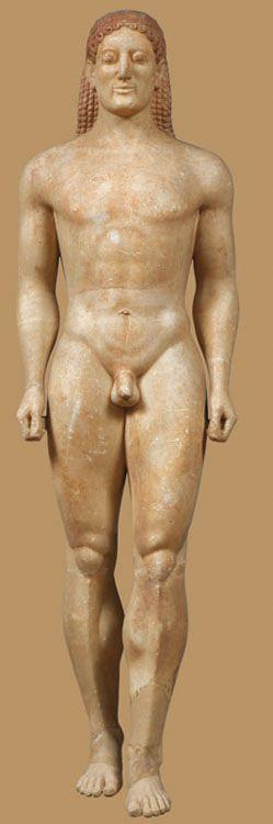 Estatua Kouros de la época arcaica griega