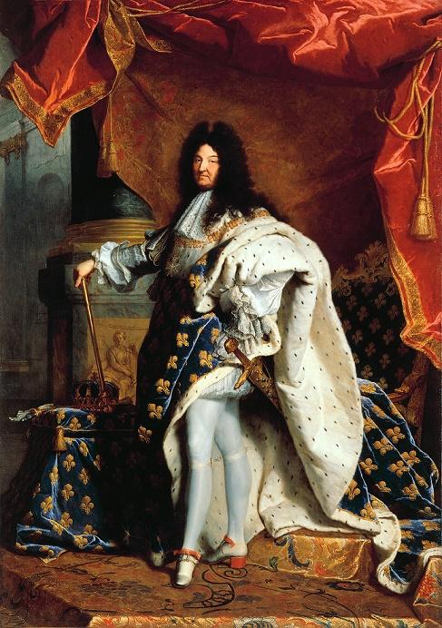 Retrato del Rey Sol realizado por Hyacinthe Rigaud en 1701