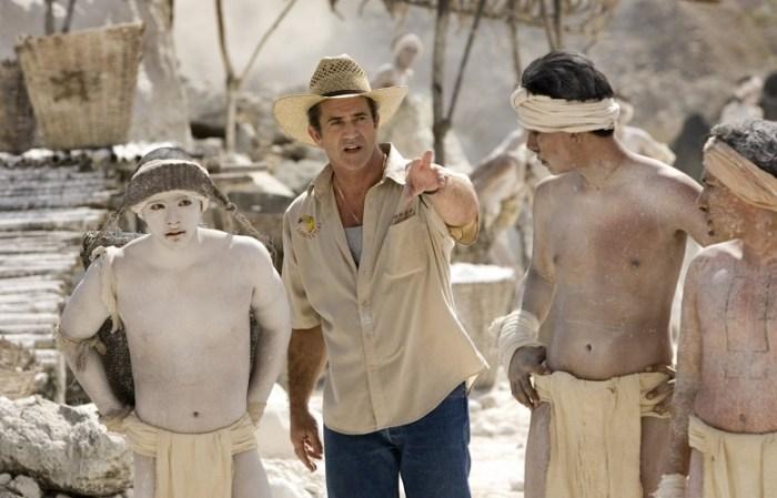 """Mel Gibson, ejerciendo tareas de director de la película """"Apocalypto"""""""