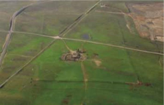 Fotografía aérea de Cáceres el Viejo (Heras,2014)