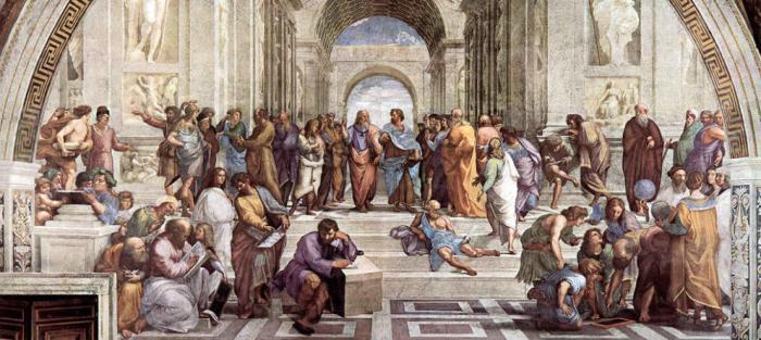"""El cuadro """"La escuela de Atenas"""" de Rafael Sanzio"""