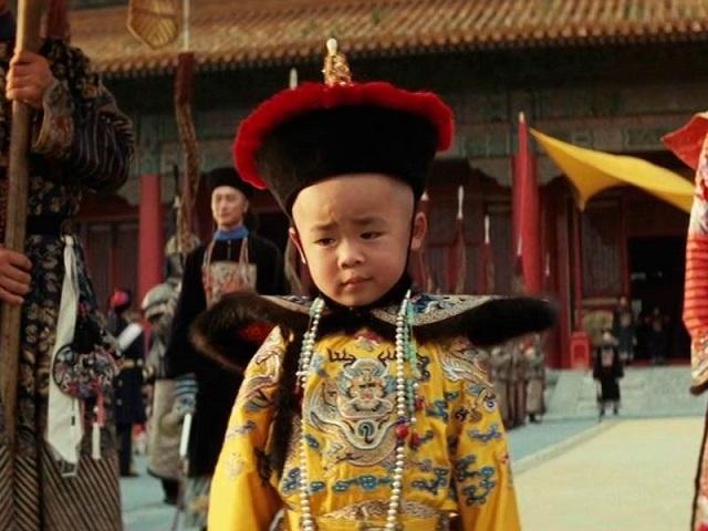 """El joven actor Richard Vuu caracterizado como su personaje en la película """"El último emperador"""""""