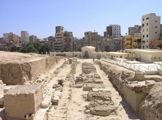 Restos arqueológicos en la actualidad del Serapeum