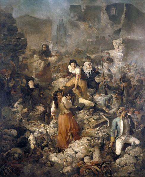 """""""La Compañía de Santa Bárbara"""", cuadro de Ramón Martí i Alsina (1891)"""