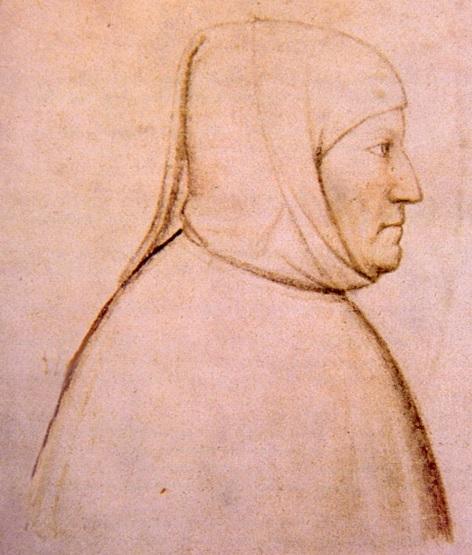 Retrato de Francesco Petrarca, hecho por Altichiero, 1370-1380