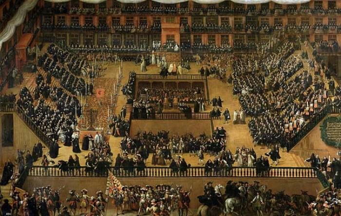 Auto de Fe en la Plaza Mayor de Madrid, por Francisco Rizi 1683