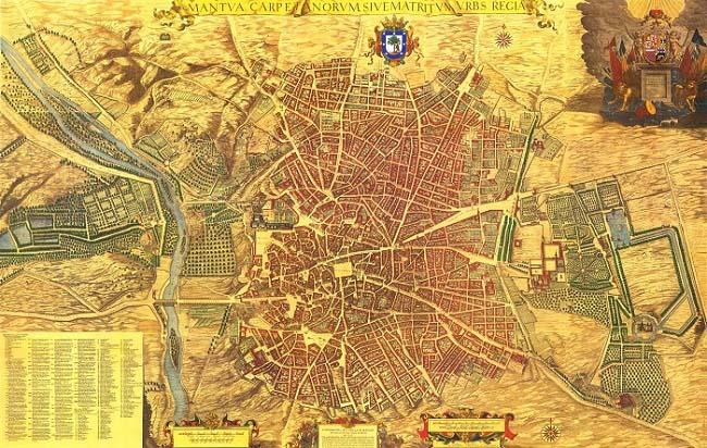 Plano de Madrid a mediados del siglo XVII, por Pedro Teixeira