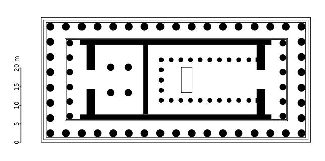 Planta del Partenón de Atenas