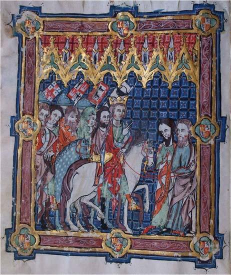 Alfonso XI de Castilla representado en el Libro de la Coronación de los Reyes de Castilla