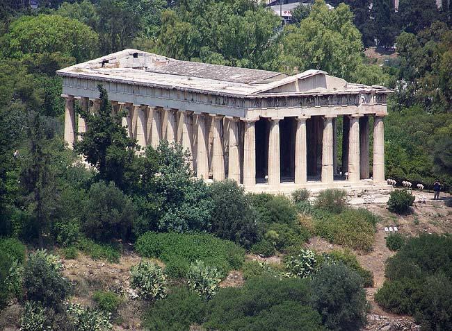El Hefestión en el Ágora de Atenas, representante del arte griego clásico