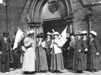 Manifestación sufragista en 1911