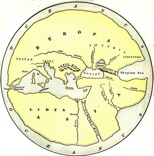 Mapa del mundo según Hecateo de Mileto