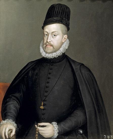 Retrato de Felipe II hecho por Sofonisba Anguissola