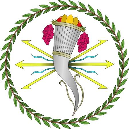 Emblema empleado por la ceca de Valentia para la acuñación de las monedas locales.