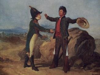Óleo en el que se representa a Agustín de Iturbide y a Vicente Guerrero