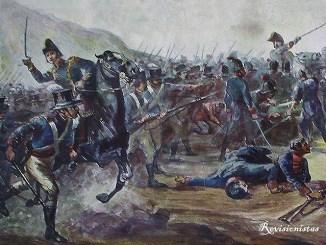 Cuadro que representa la Batalla de Huaqui