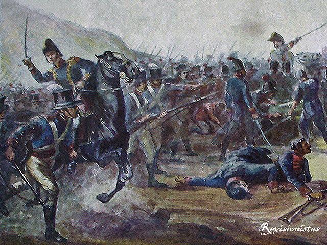 Cuadro que representa la Batalla de Huaqui, una de las muchas que hubo por la independencia de Argentina