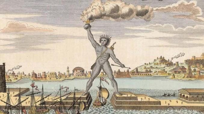 Otro de los grabados idealizadores del Coloso de Rodas