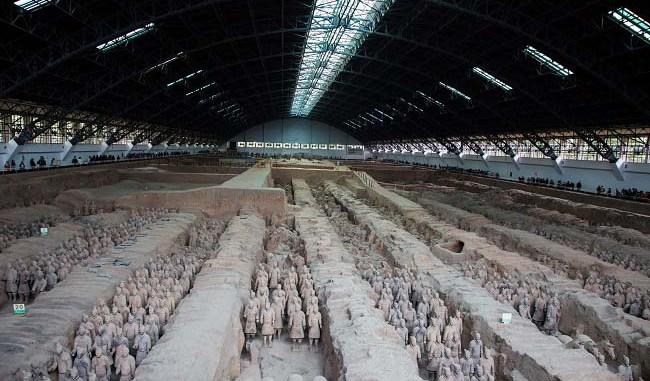 Vista general del ejército de terracota de Qin Shi Huang Di