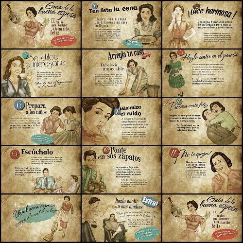 Manual de la buena esposa publicado en los años 50