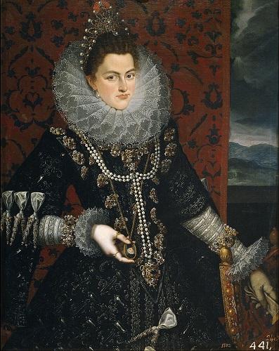 Retrato de Isabel Clara Eugenia, una de las principales beneficiarias del testamento de Felipe II
