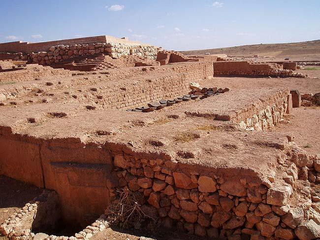 Parte del yacimiento arqueológico de la ciudad de Ebla en la actualidad
