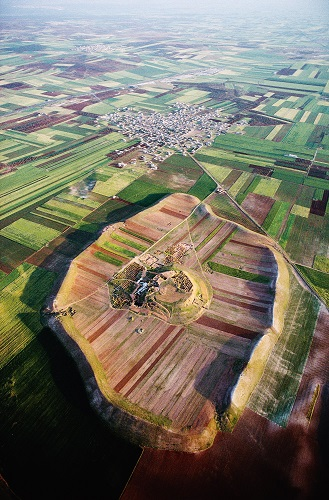 Vista aérea de Tell Mardikh, en el norte de Siria, identificada con la antigua Ebla