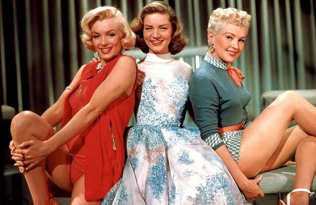 Marilyn Monroe, Lauren Bacall y Betty Grable en Como casarse con un millonario