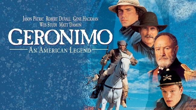 """Cartel de la película """"Gerónimo una leyenda americana"""""""