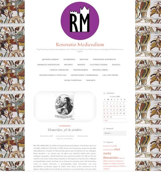 Captura de pantalla general de Renovatio Medievalium