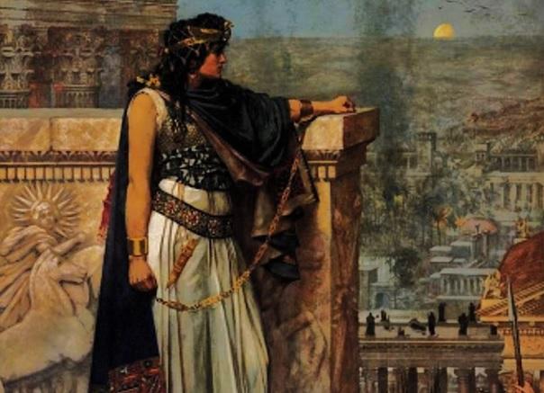 Ilustración que recrea a Zenobia de Palmira