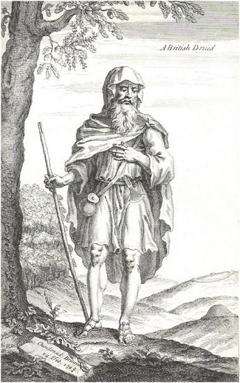 A British Druid (1723) Grabado de William Stukeley idealizando a los druidas
