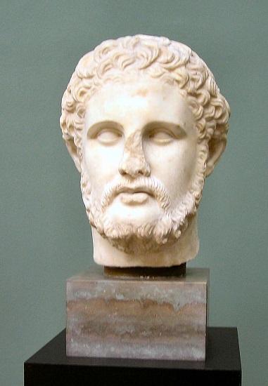 Busto en mármol de Filipo II de Macedonia