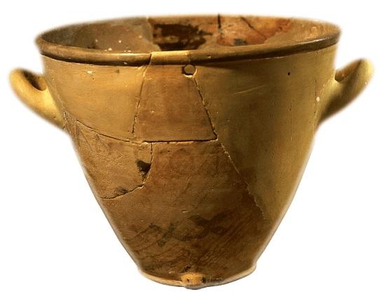Clepsidra utilizada en el sistema de justicia en la antigua Atenas conservada en la actualidad